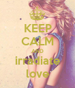 KEEP CALM AND irradiate love - Personalised Poster large