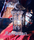 KEEP CALM AND It's  Ramadan  - Personalised Poster large