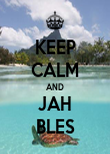 KEEP CALM AND JAH BLES - Personalised Poster large