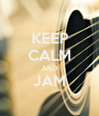 KEEP CALM AND JAM  - Personalised Poster large