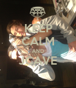 KEEP CALM AND JCAVE  - Personalised Poster large