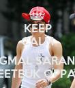 KEEP CALM AND JEONGMAL SARANGHAE LEETEUK OPPA ♥ - Personalised Poster large