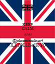 KEEP CALM AND @johannamelissa4 WILL FOLLBACK YOU - Personalised Poster large