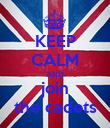 KEEP CALM AND join the cadets - Personalised Poster large