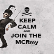 KEEP CALM AND JOIN THE  MCRmy - Personalised Poster large
