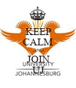 KEEP CALM AND JOIN UJ - Personalised Poster large