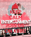 KEEP CALM AND JOIN US  ON KBBE! - Personalised Poster large