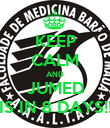 KEEP CALM AND JUMED IS IN 8 DAYS!! - Personalised Poster large