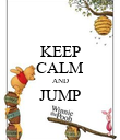 KEEP CALM AND JUMP  - Personalised Poster large