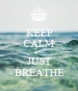 KEEP CALM AND JUST BREATHE - Personalised Poster large