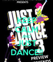 KEEP CALM AND JUST DANCE!! - Personalised Poster large