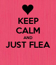 KEEP CALM AND JUST FLEA  - Personalised Poster large