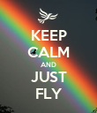 KEEP CALM AND JUST FLY - Personalised Poster large