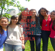 KEEP CALM AND JUST GIRLS - Personalised Poster large