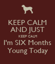 KEEP CALM AND JUST KEEP CALM I'm SIX Months Young Today - Personalised Poster large
