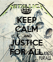 KEEP CALM ...AND JUSTICE FOR ALL - Personalised Poster large