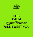 KEEP CALM AND @justinbieber WILL TWEET YOU - Personalised Poster large