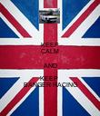 KEEP CALM AND KEEP  BANGER RACING - Personalised Poster large