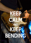 KEEP CALM AND KEEP BENDING - Personalised Poster small