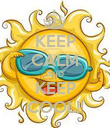 KEEP CALM AND KEEP COOL!! - Personalised Poster large
