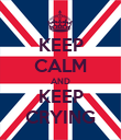 KEEP CALM AND KEEP CRYING - Personalised Poster large