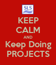 KEEP CALM AND Keep Doing PROJECTS - Personalised Poster large