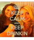 KEEP CALM AND KEEP DRINKIN - Personalised Poster large
