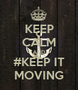KEEP CALM AND #KEEP IT MOVING - Personalised Poster large