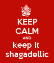KEEP CALM AND keep it  shagadellic - Personalised Poster large