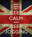 KEEP CALM AND KEEP JOGGING - Personalised Poster large
