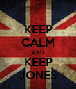 KEEP CALM AND KEEP JONES - Personalised Poster large