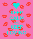 KEEP CALM AND KEEP LOVING - Personalised Poster large