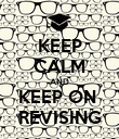 KEEP CALM AND KEEP ON  REVISING - Personalised Poster large