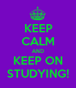 KEEP CALM AND KEEP ON STUDYING! - Personalised Poster large