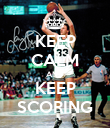 KEEP CALM AND KEEP SCORING - Personalised Poster large