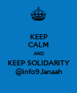 KEEP CALM AND KEEP SOLIDARITY @info9Janaah - Personalised Poster large