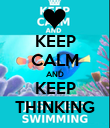 KEEP CALM AND KEEP THINKING - Personalised Poster large
