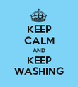 KEEP CALM AND KEEP WASHING - Personalised Poster large