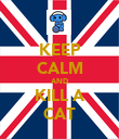 KEEP CALM AND KILL A CAT - Personalised Poster large