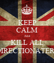 KEEP CALM And KILL ALL DIRECTIONATERS - Personalised Poster large
