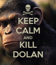 KEEP CALM AND KILL DOLAN - Personalised Poster large