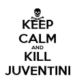 KEEP CALM AND KILL JUVENTINI - Personalised Poster large