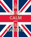 KEEP CALM AND KILL RABBITS - Personalised Poster large