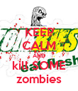 KEEP CALM AND kill SOME zombies - Personalised Poster large