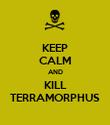 KEEP CALM AND KILL TERRAMORPHUS - Personalised Poster large