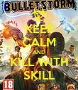 KEEP CALM AND KILL WITH SKILL - Personalised Poster large