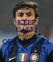 KEEP CALM AND KING OF FOOTBALL IS ZANETTI - Personalised Poster small