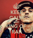 KEEP CALM AND KING OF  RAP - Personalised Poster large