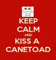 KEEP CALM AND KISS A  CANETOAD - Personalised Poster large