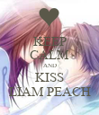 KEEP CALM AND KISS LIAM PEACH - Personalised Poster large